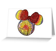 Tie Dye X Minnie Mouse Greeting Card