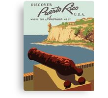 Discover Puerto Rico U.S.A. Where The Americas Meet Vintage Travel Poster Canvas Print