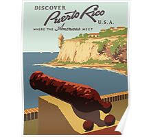 Discover Puerto Rico U.S.A. Where The Americas Meet Vintage Travel Poster Poster