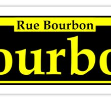 BOURBON STREET SIGN NEW ORLEANS LOUISIANA RUE BOURBON FRENCH CAJUN NEON GREEN Sticker