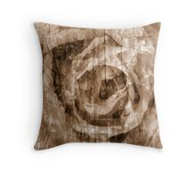 Tote Design, Rose collage in Sepia Throw Pillow