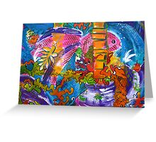The Crowded Aquarium by Heather Holland  Greeting Card