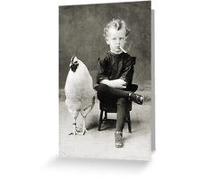 Smoking Child - black/white Greeting Card
