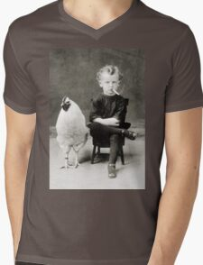Smoking Child - black/white Mens V-Neck T-Shirt