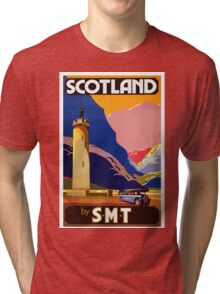 Scotland By S.M.T. Vintage Travel Poster Tri-blend T-Shirt