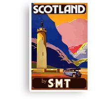 Scotland By S.M.T. Vintage Travel Poster Canvas Print