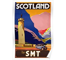 Scotland By S.M.T. Vintage Travel Poster Poster
