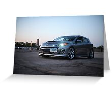 Mazdaspeed 3 Greeting Card