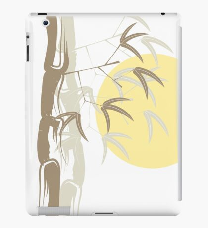 Oriental Yellow Sunrise Bamboo Zen iPad Case/Skin