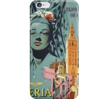 Iberia Air Lines Of Spain Vintage Travel Poster iPhone Case/Skin