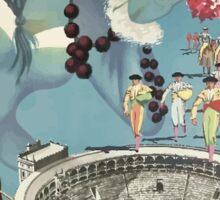 Madrid Iberia Spain Vintage Travel Poster Sticker