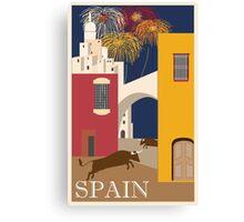 Spain Vintage Travel Poster Canvas Print