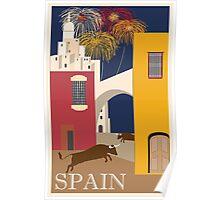 Spain Vintage Travel Poster Poster