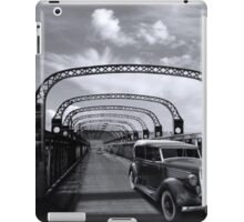 1935 Ford Sedan crossing the motor bridge, Murray Bridge iPad Case/Skin