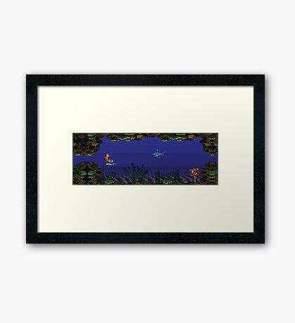 Donkey Kong Country - Underwater Level Framed Print