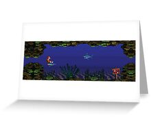 Donkey Kong Country - Underwater Level Greeting Card