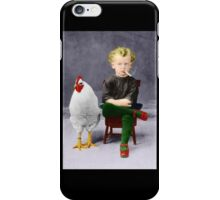 Smoking Child - Recolored Version iPhone Case/Skin