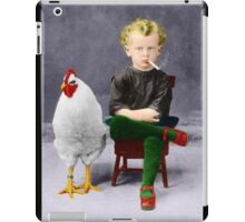 Smoking Child - Recolored Version iPad Case/Skin