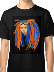 Cybergoth Girl in Contrasting Blue and Orange Classic T-Shirt