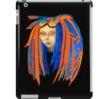 Cybergoth Girl in Contrasting Blue and Orange iPad Case/Skin
