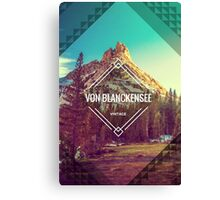 Ragged Peak, Yosemite, Branded. Canvas Print