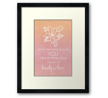 You Are A Miraculous Creation Framed Print
