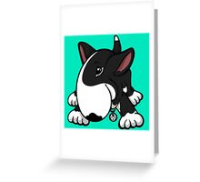 Let's Play English Bull Terrier Black  Greeting Card