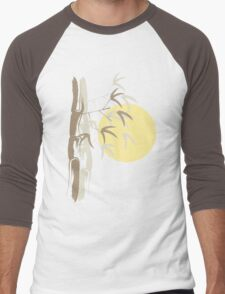 Oriental Yellow Sunrise Bamboo Zen Men's Baseball ¾ T-Shirt