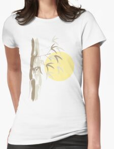 Oriental Yellow Sunrise Bamboo Zen Womens Fitted T-Shirt