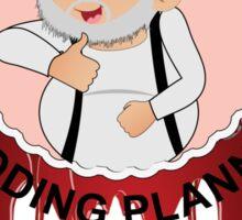 George RR Martin's Wedding Planners (White) Sticker