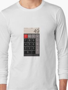 Calculator 49 Long Sleeve T-Shirt