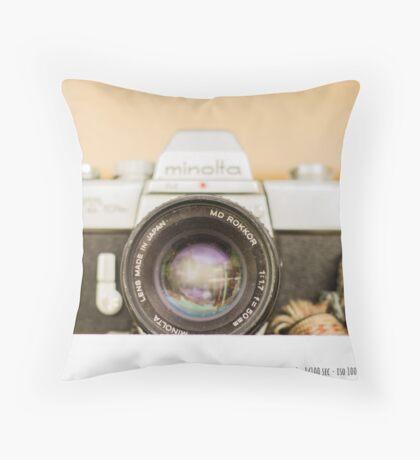 Minolta Throw Pillow