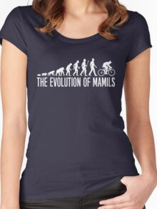 Cycling MAMIL Evolution Women's Fitted Scoop T-Shirt