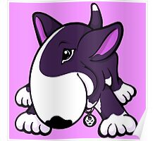 Let's Play English Bull Terrier Purple Poster