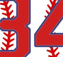 34 Red Sox Ortiz Sticker