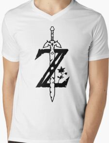 The Legend of Zelda Breath of the Wild Mens V-Neck T-Shirt