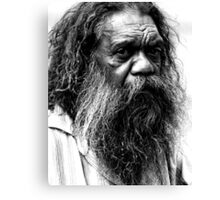 Portrait of an aborigine Canvas Print
