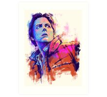 Marty McFly V2 Art Print