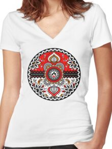 Elemental Ball Women's Fitted V-Neck T-Shirt