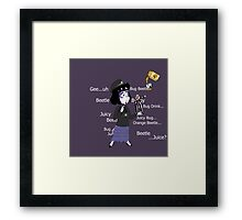 Beetlejuice and Lydia Meeting Framed Print