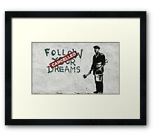 Banksy dreams Framed Print