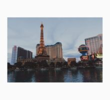 Las Vegas - All Lit, Shiny and Glamorous on a Cloudy Day One Piece - Short Sleeve