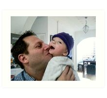 Happy Father & Son. Art Print