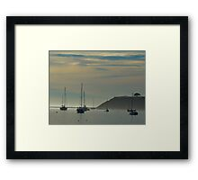 Resting Sailboats in Still Waters Framed Print