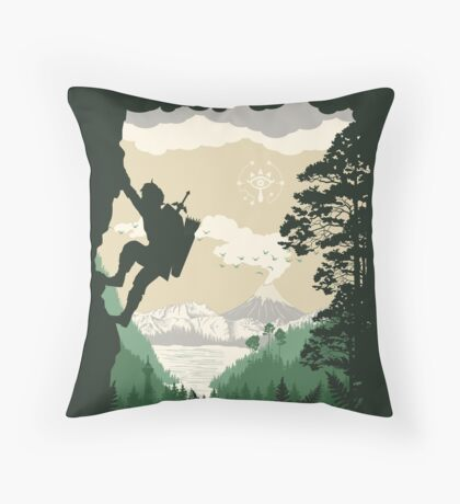 Breath of Adventure Throw Pillow