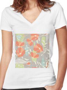 Flower Power #2 Women's Fitted V-Neck T-Shirt