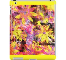 Flower in Black Square 13- Digitally Altered Print by Heather Holland iPad Case/Skin