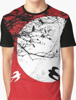 Oriental Swallows In Moonlight  Graphic T-Shirt