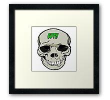 Goth skull design Framed Print