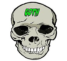 Goth skull design Photographic Print